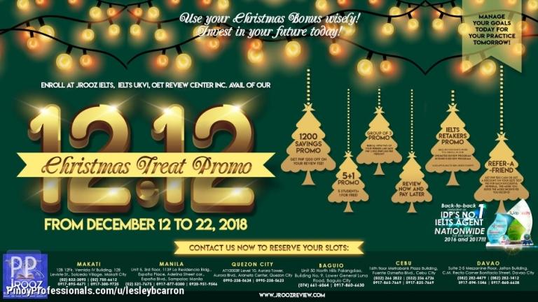 Education - JRooz Christmas Treat Promo - December 12 to 22, 2018