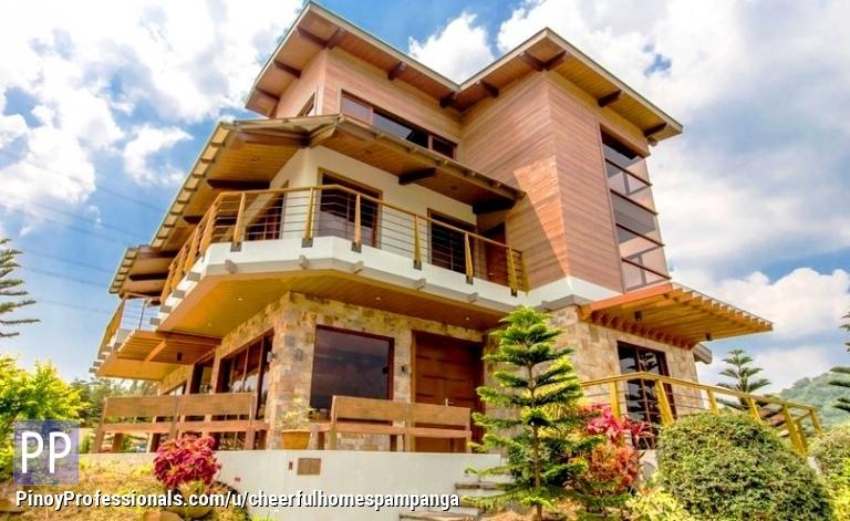 House for Sale - House modern log cabin design Tagaytay Highlands 4br rfo resale