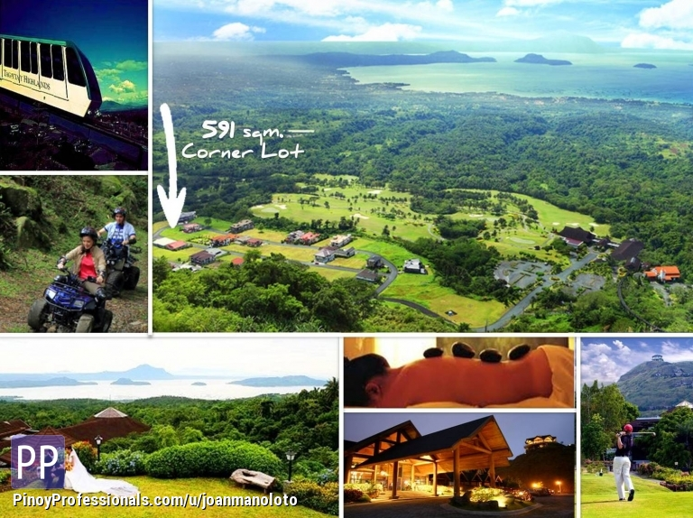 Land for Sale - Lakeview Heights perfect view of lake house site Lot for Sale Tagaytay Highlands