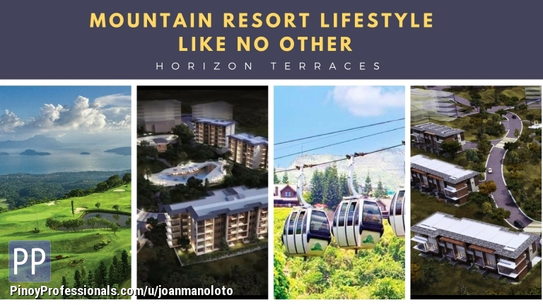 Apartment and Condo for Sale - Horizon Terraces with views of Lake Tagaytay Highands 0% for 60months
