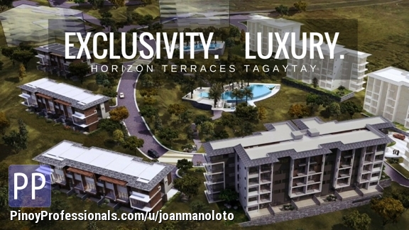 Apartment and Condo for Sale - Lakeview condo units at Horizon Terraces in Tagaytay Highlands pre-selling