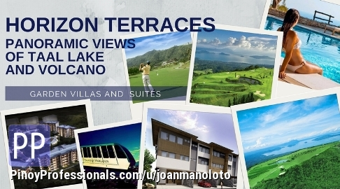 Apartment and Condo for Sale - Townhomes with Magnificent view of Taal Lake in Tagaytay Highlands