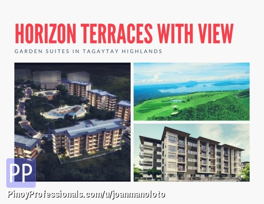 Apartment and Condo for Sale - Horizon Terraces stunning views of Lake condo and villas Tagaytay Highlands