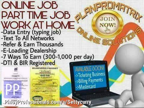 Work from Home - Homebased Online Job
