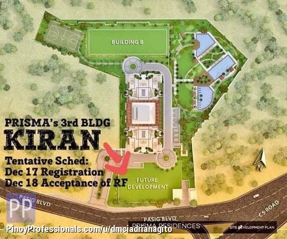 Apartment and Condo for Sale - Prisma Residences Condo For Sale near Capitol Commons Pasig