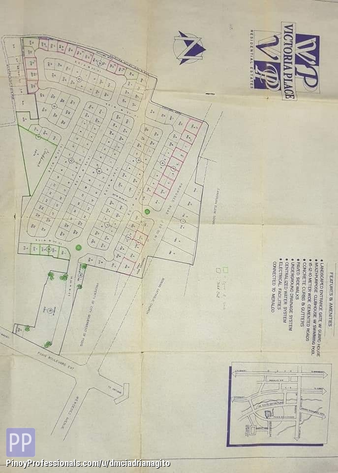 Land for Sale - Victoria Place Caniogan Pasig Residential Lot For Sale