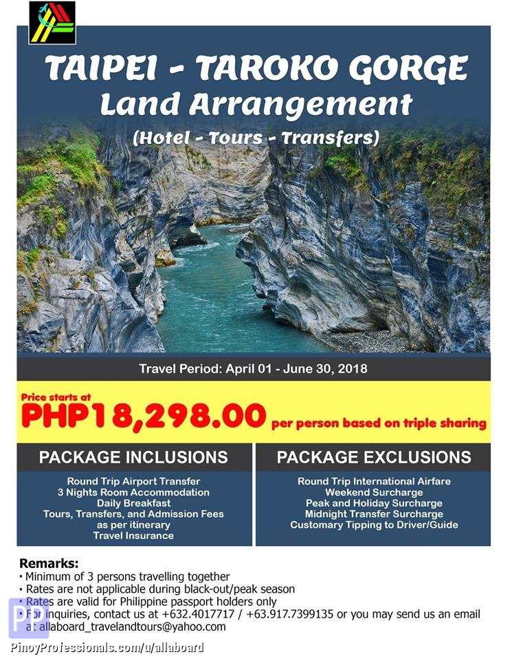 Vacation Packages - Taroko Gorge 4D3N Tour