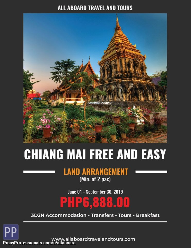 Vacation Packages - Chiang Mai 3D2N Free and Easy Tour