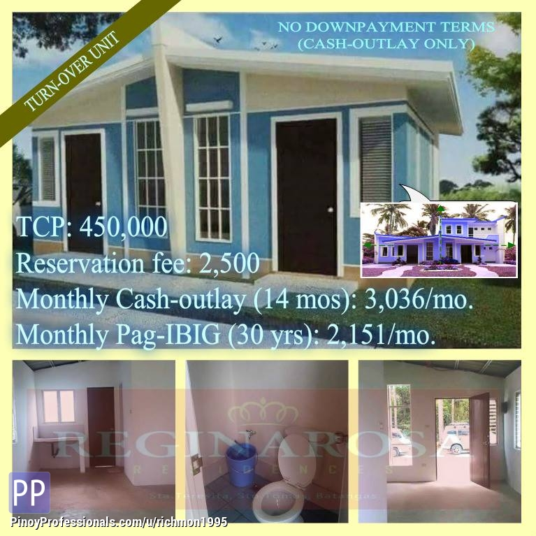 House for Sale - House And Lot REGINAROSA For Sale Thru Pag-ibig