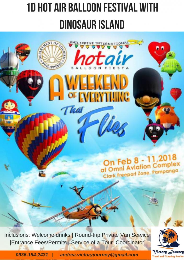 Travel Destinations - 1D Hot Air Balloon Festival with Dinosaur Island