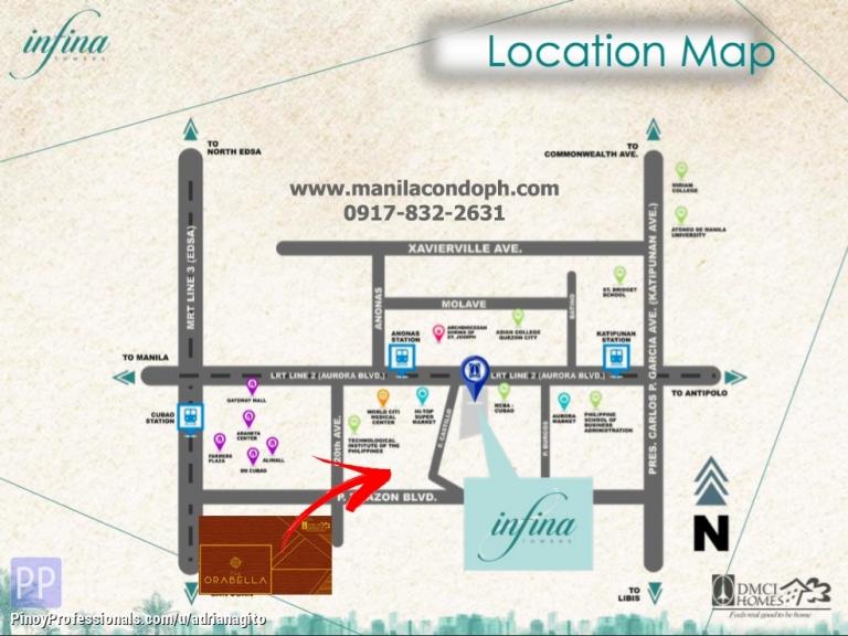 Apartment and Condo for Sale - Infina Towers Cubao Condo near Manhattan Gateway Araneta Center