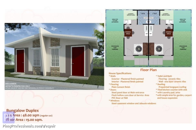 House for Sale - pag ibig housing in santo tomas batangas Amorosa Residences