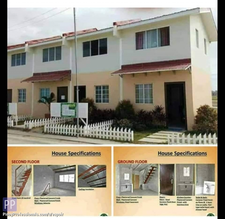 House for Sale - Murang Pabahay in Cabuco Trece Martirez Thru pag ibig housing