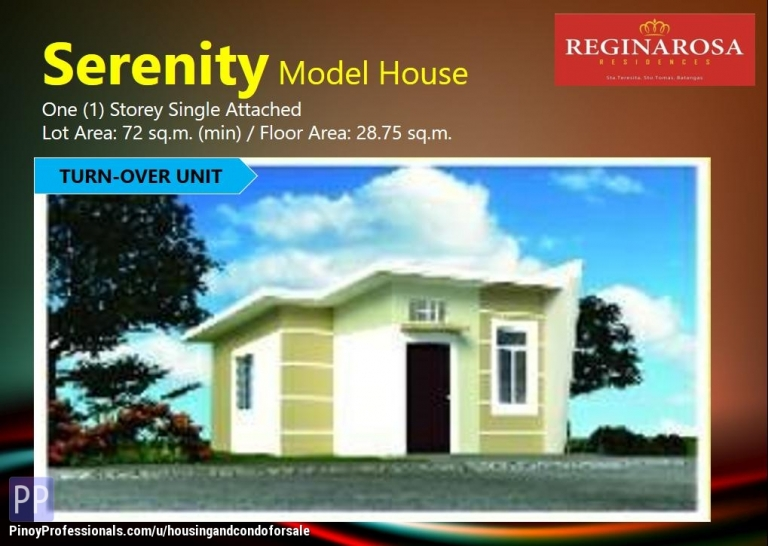 House for Sale - On-Going Construction Units, Serenity Model in Reginarosa Residences