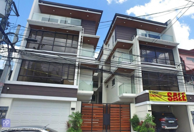House for Sale - RUSH SALE 4-STOREY 3 BEDROOMS MODERN TOWNHOUSE IN EAST KAMIAS QC NEAR CUBAO AND TIMOG