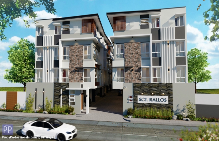 Apartment and Condo for Sale - 4-storey Modern Townhouse in Scout QC area near GMA-Timog Avenue