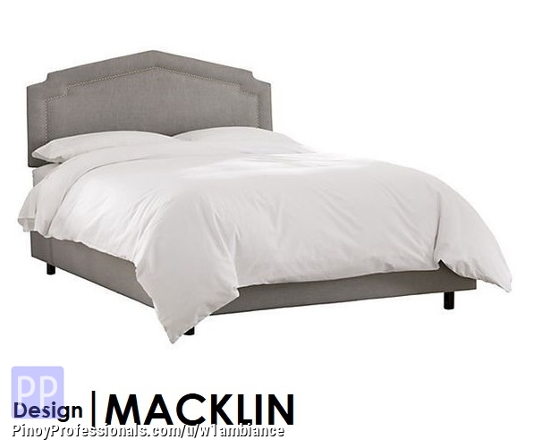 Home and Garden - MACKLIN Upholstered Bed