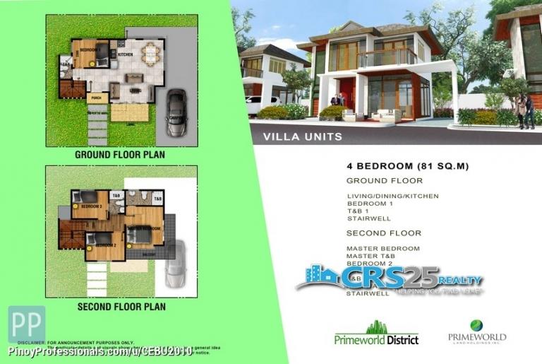 House for Sale - Villa House & Lot FOR SALE! in Prime World District Lapu-lapu Cebu