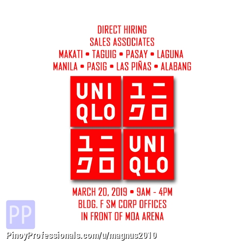 Retail and Business Development - Magnus: Uniqlo Sales Associate March 20