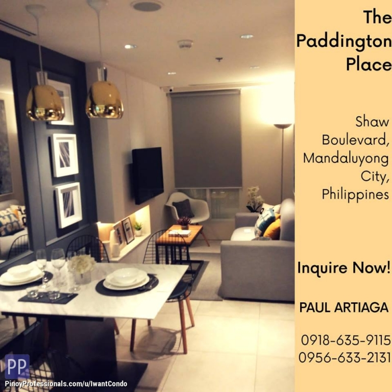 Apartment and Condo for Sale - #Paddington Place @ #Shaw Blvd. #Mandaluyong