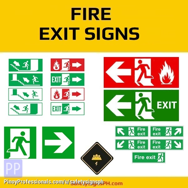 Everything Else - Glow in the Dark Fire Exit Signs Philippines