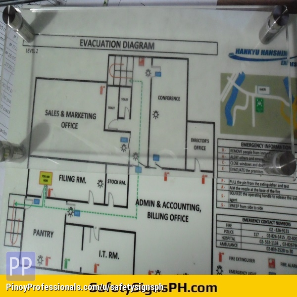 Everything Else - Emergency Evacuation Plans, Fire Route Escape Maps Philippines