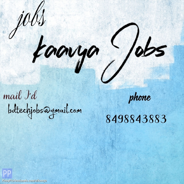 IT and Software Development - Backdoor IT and Software Jobs For Freshers in Hyderabad ,Telangana,INDIA