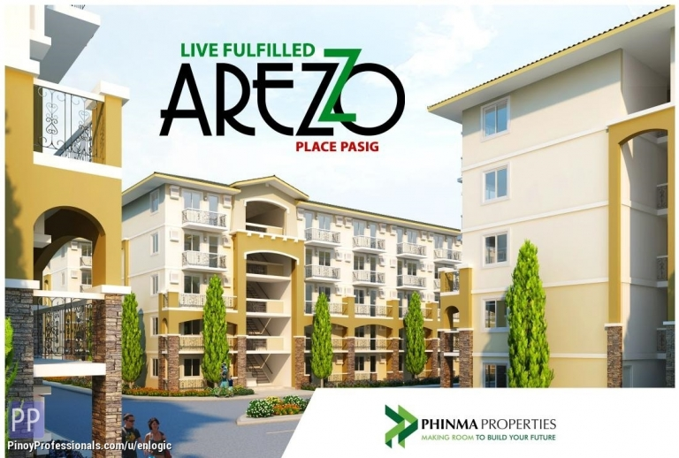 Apartment and Condo for Sale - Arezzo Place, Condo in Sandoval Avenue near Pasig City by Phinma