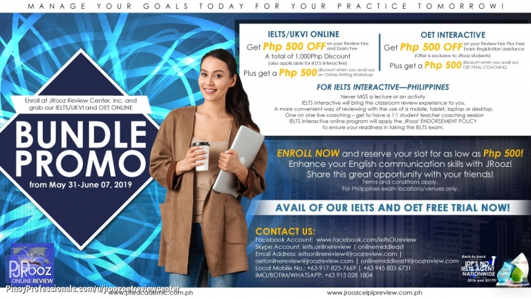 Education - JRooz IELTS/UKVI and OET Online Bundle Promo May 31-June 07, 2019