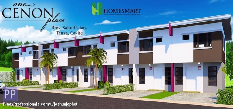 House for Sale - One Cenon Place, 50sqm townhouse @Tanza Cavite