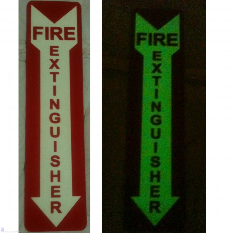 Specialty Services - Photoluminescence / Luminous Fire Extinguisher Sign