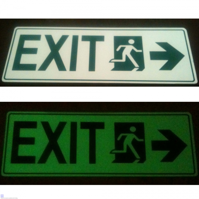 Specialty Services - Photoluminescence / Luminous Exit Signs, Strips