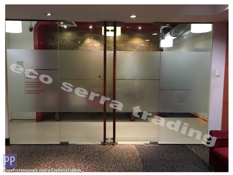 Specialty Services - Glass Panel Frosting