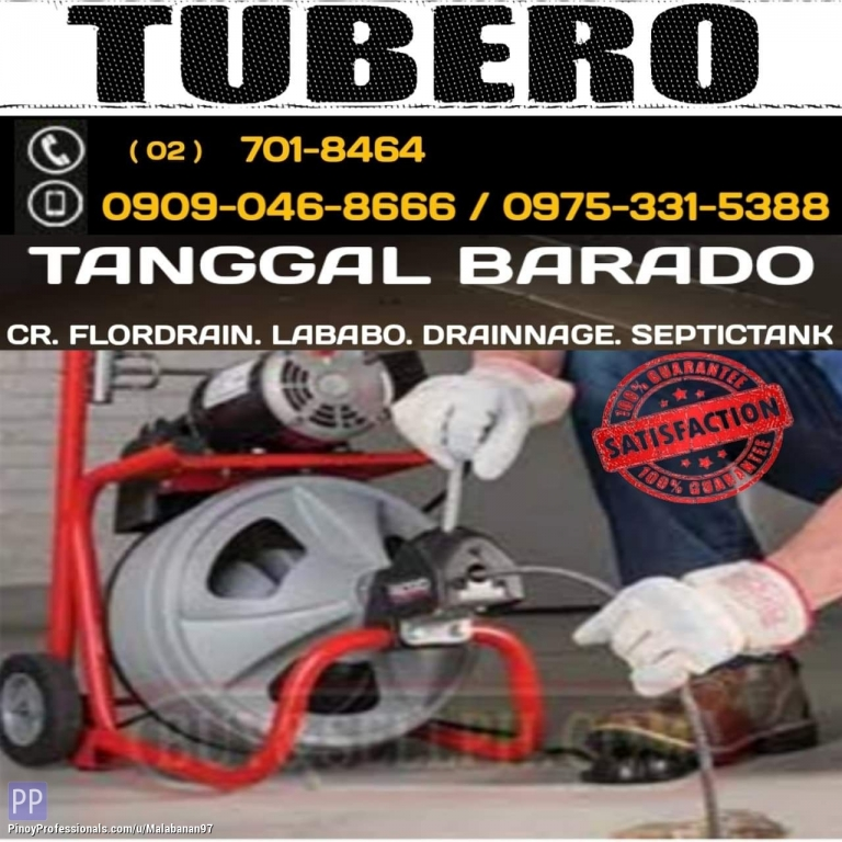 Business and Professional Services - TUBERO TANGGAL BARADO VALENZUELA CITY 09090468666 09753315388 7018464 DECLOGGING SERVICES