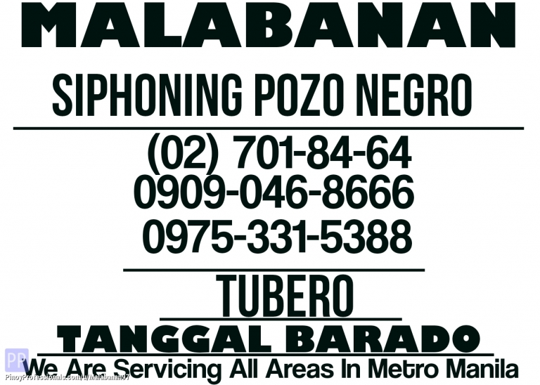 Business and Professional Services - CALOOCAN CITY TUBERO TANGGAL BARADO 09090468666 09753315388 7018464 CALL NOW FOR INQUIRE