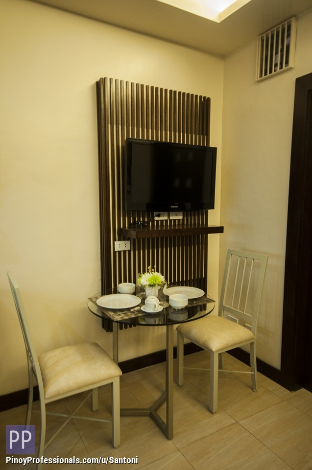 Apartment and Condo for Rent - For Rent Serviced Apartment, 1Bedroom with shower,balcony,WiFi,Cable near Ayla,Sm,IT Park