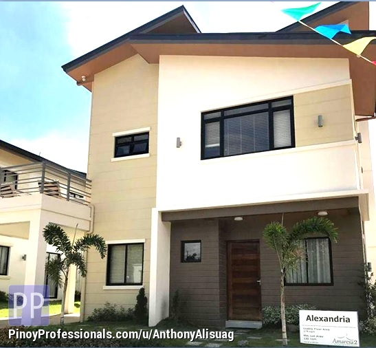 House for Sale - Php 45,812/Month 5BR Single Attached With Carport & Deck Alexandria Amaresa 2 in Bulacan