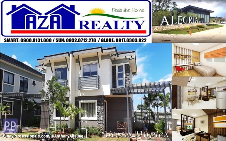 House for Sale - Php 17,988/month Aleica 2BR Duplex Alegria Residences Marilao Bulacan