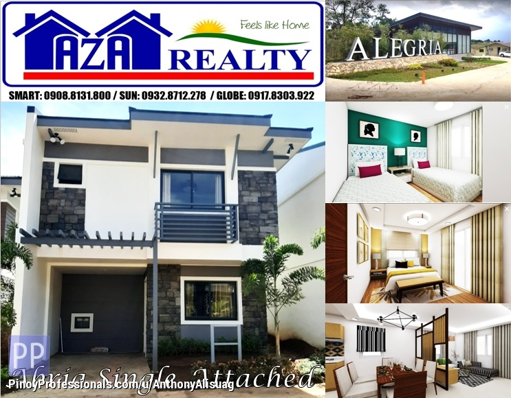 House for Sale - Php 19,866/month Abria 4BR Single Attached Alegria Residences Marilao Bulacan