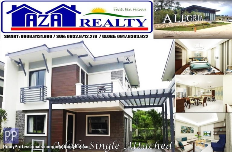 House for Sale - Php 29,682/month Adora 4BR Single Attached Alegria Residences Marilao Bulacan