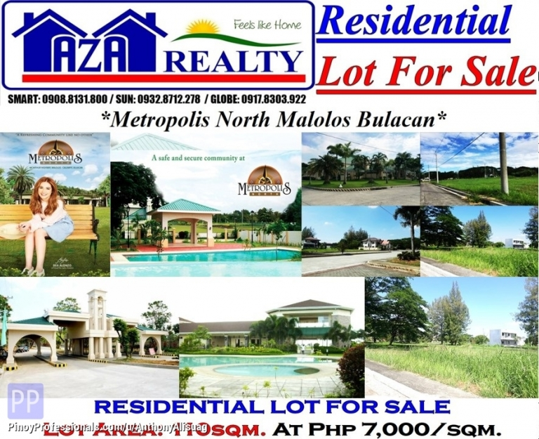 Land for Sale - Vacant Lot 110sqm. at Php 7,000/sqm. Metropolis North Bulacan