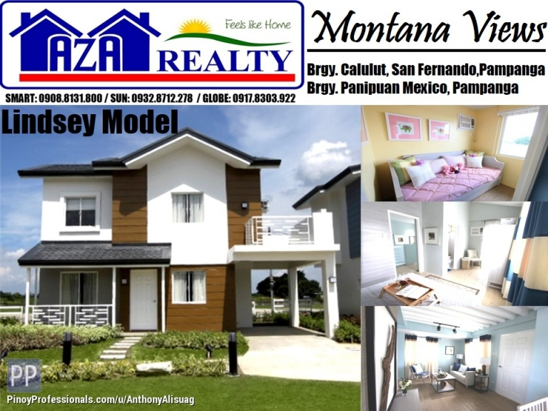House for Sale - Php 39,773/Month 4BR Lindsey Model Montana Views San Fernando Pampanga