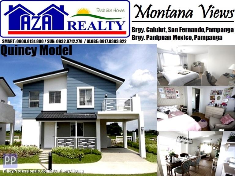 House for Sale - Php 44,080/Month 4BR Quincy Model Montana Views San Fernando Pampanga