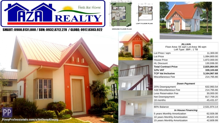 House for Sale - Php 30K Reservation Fee 3BR Single Attached Jillian Heritage Villas San Jose Bulacan