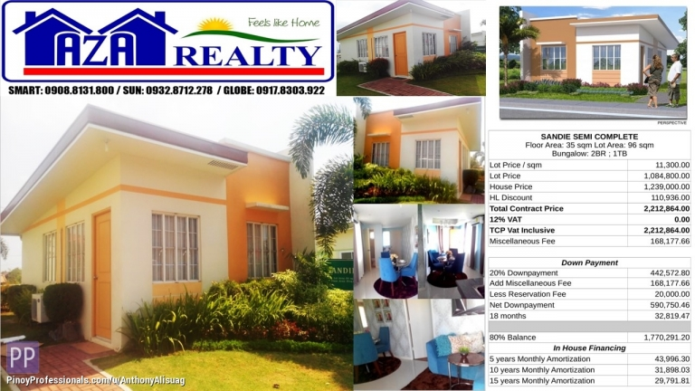House for Sale - Php 20K Reservation Fee 2BR Bungalow Sandie Heritage Villas San Jose Bulacan