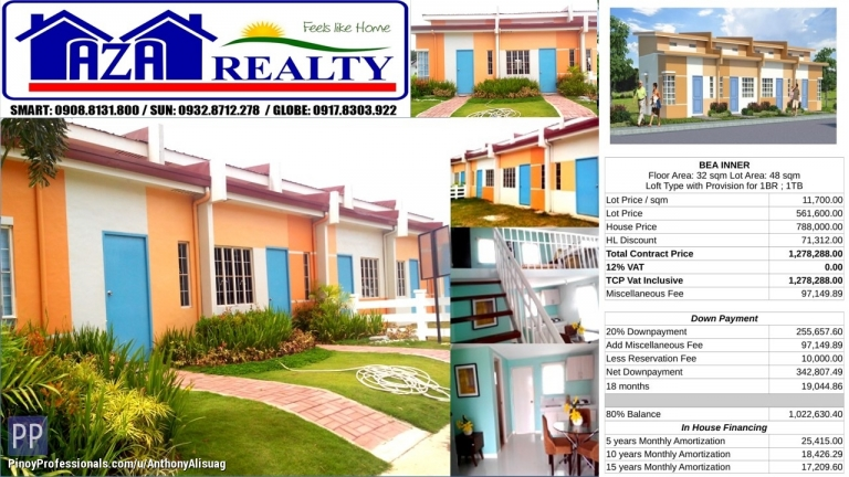 House for Sale - Php 10K Reservation Fee Bea Inner Lofted Bungalow Heritage Villas San Jose Bulacan