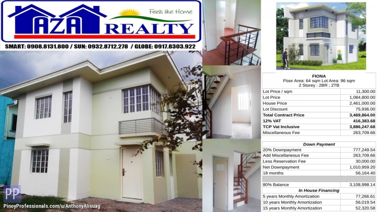House for Sale - Php 30K Reservation Fee 2BR Single Detached Fiona Heritage Villas San Jose Bulacan