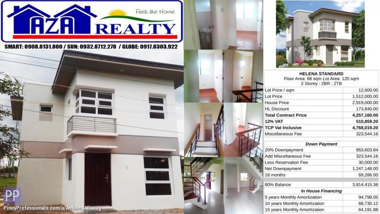 House for Sale - Php 30K Reservation Fee 2BR Single Detached Helena Heritage Villas San Jose Bulacan