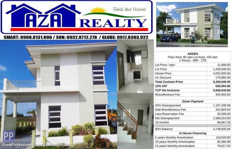 House for Sale - Php 30K Reservation Fee 2BR Single Detached Arden Metrogate San Jose Bulacan