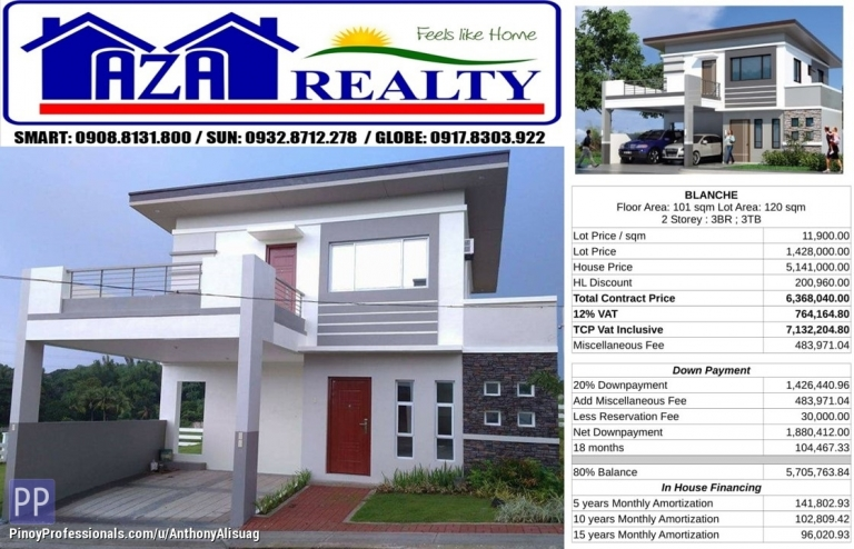 House for Sale - Php 30K Reservation Fee 3BR Single Detached Blanche Metrogate San Jose Bulacan